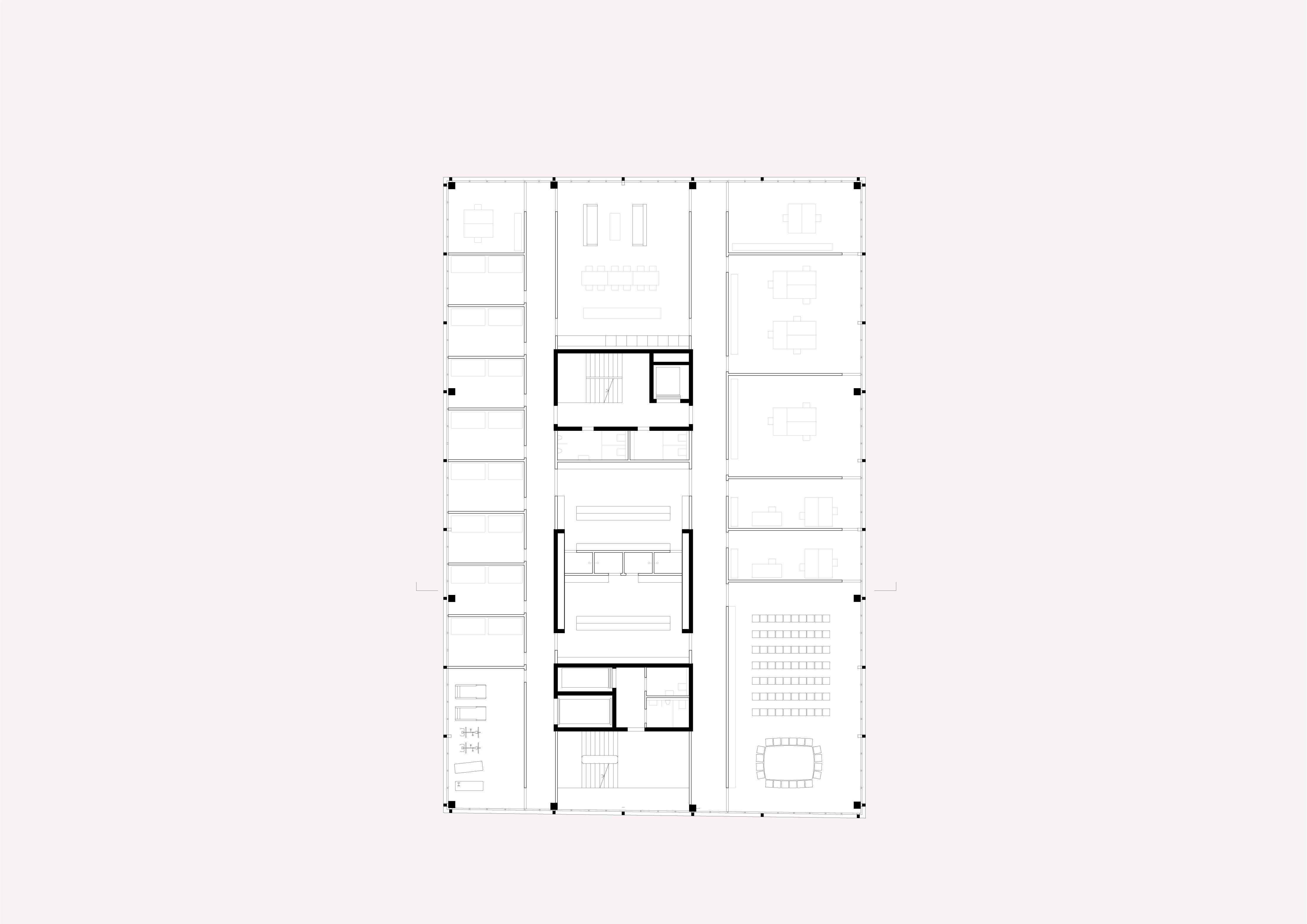 Neubau Bieler Stadtarchiv und Ambulanzgarage Region Biel 1OG STUDIO CORNEL STAEHELI