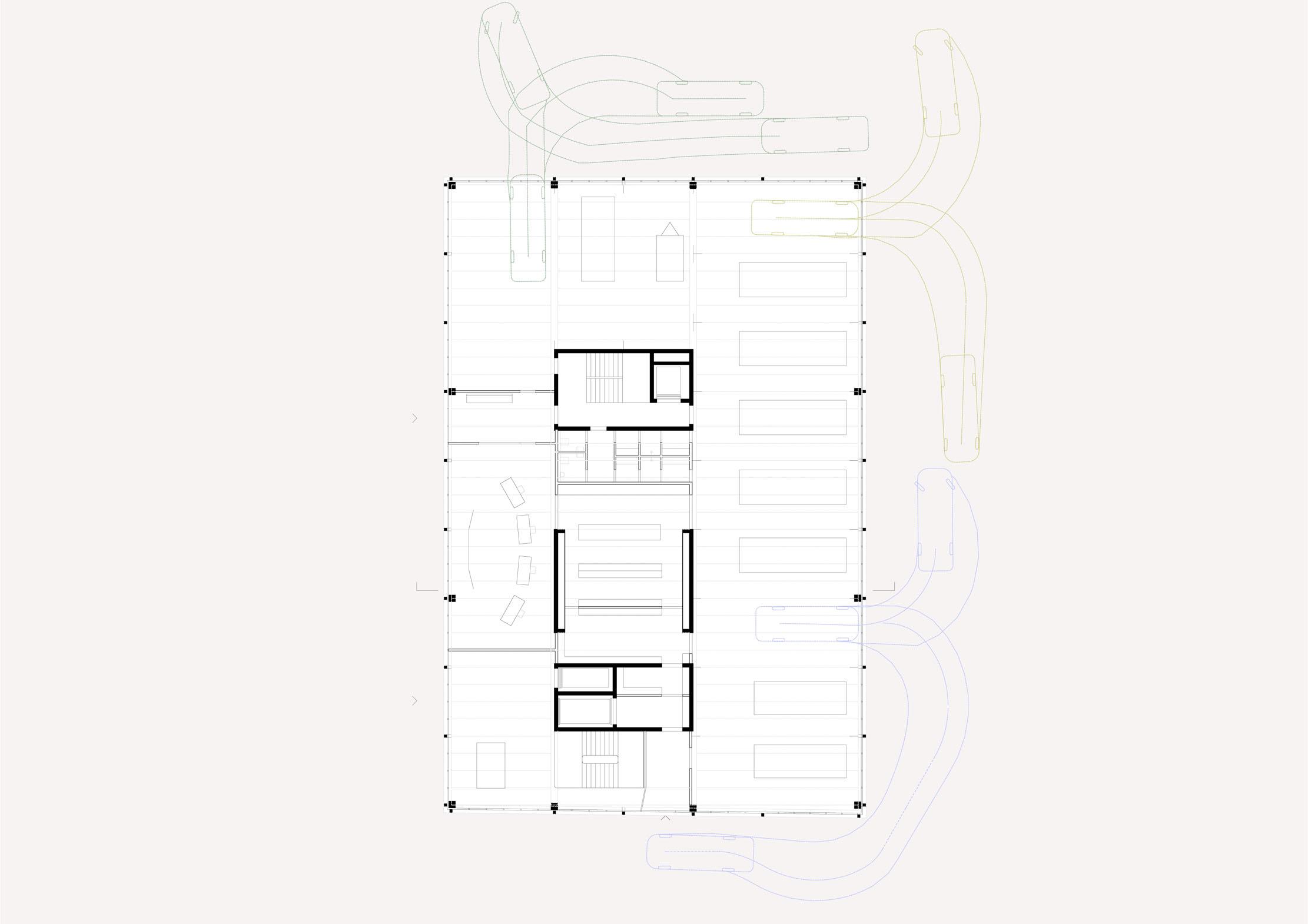 Neubau Bieler Stadtarchiv und Ambulanzgarage Region Biel Erdgeschoss STUDIO CORNEL STAEHELI