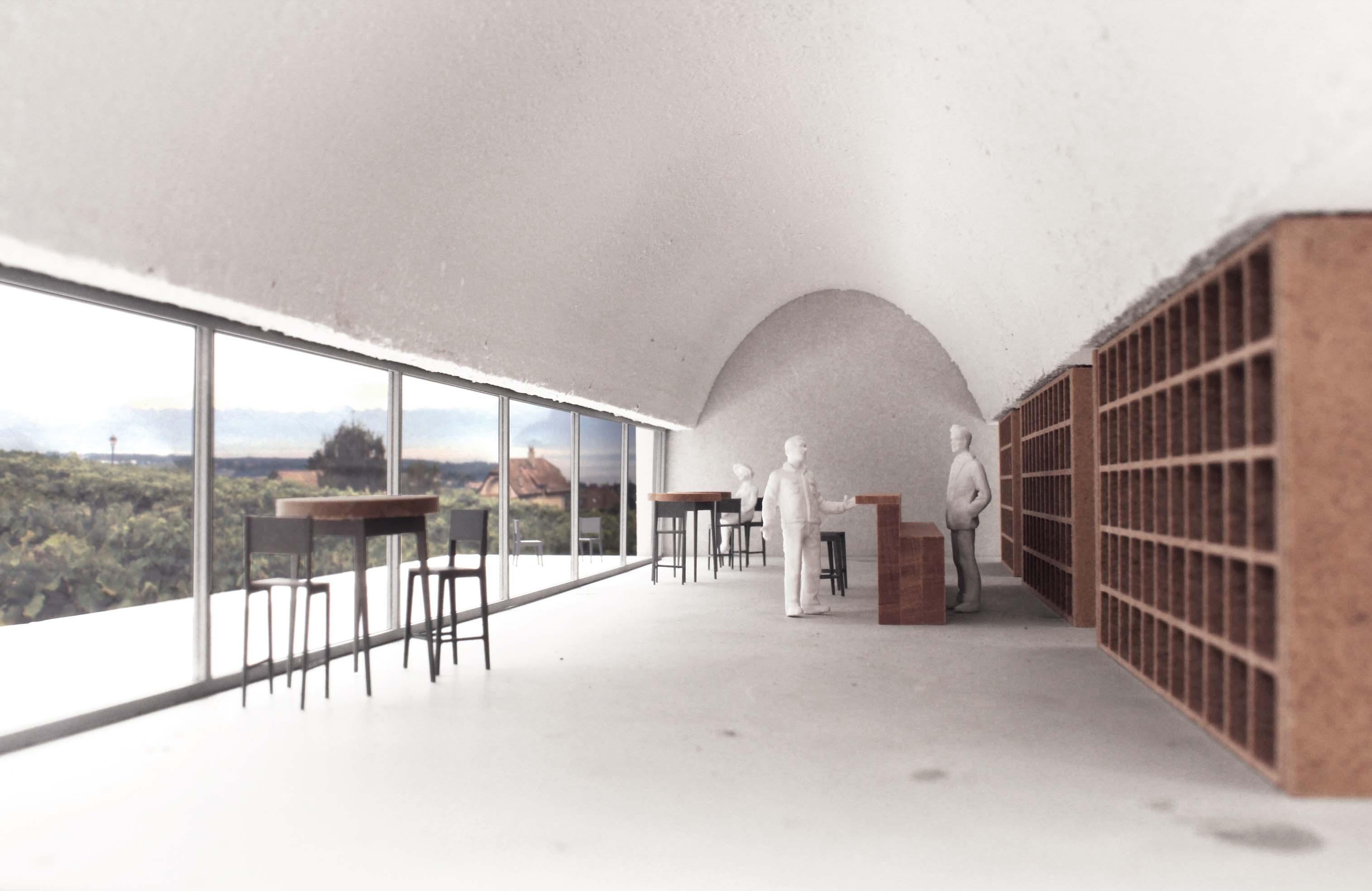 maison des vins Monte-sur-Rolle vue salle de réception