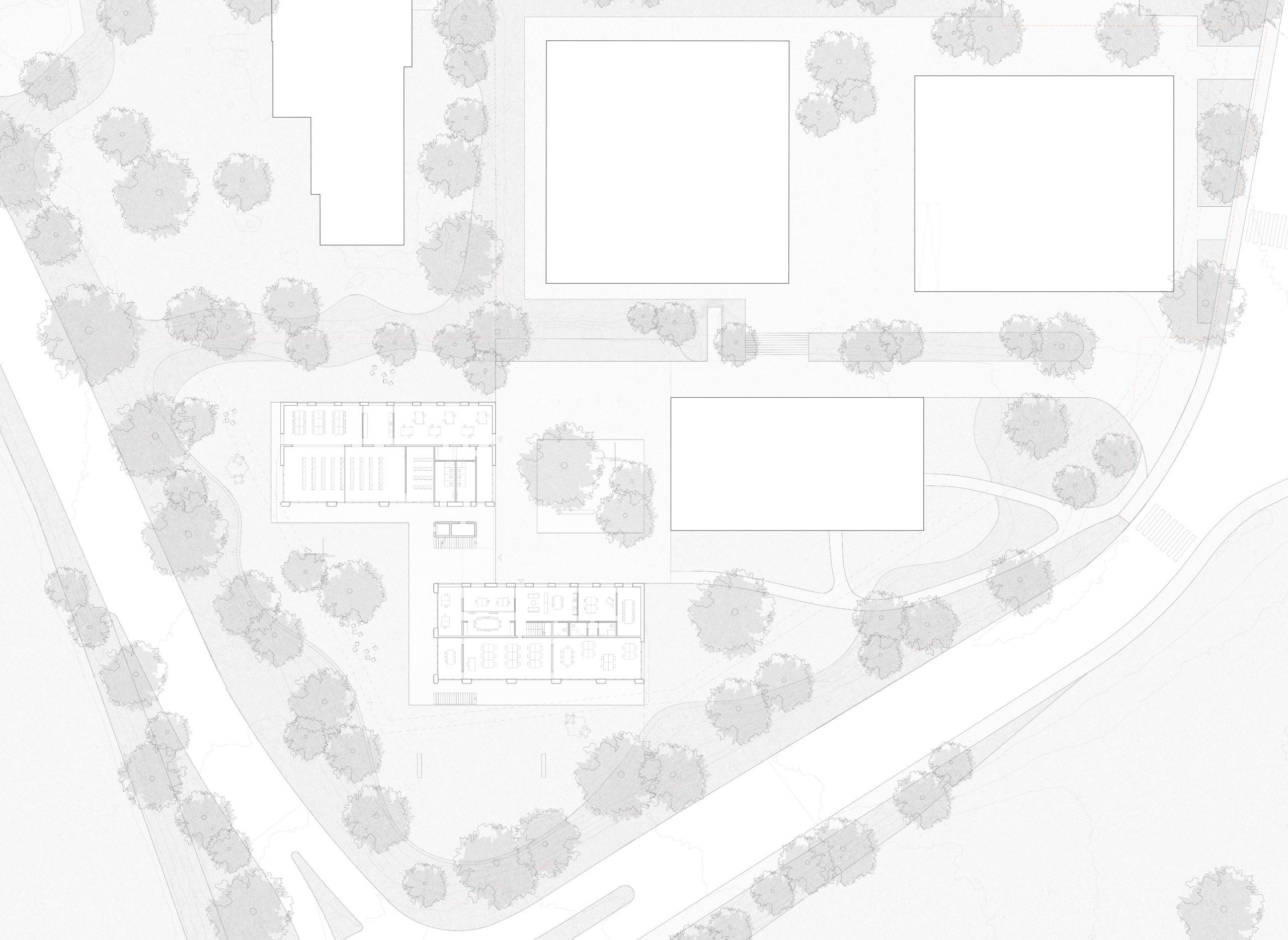 Durchgansstation Asyl Steinhausen Kanton Zug Grundriss Erdgeschoss STUDIO CORNEL STAEHELI