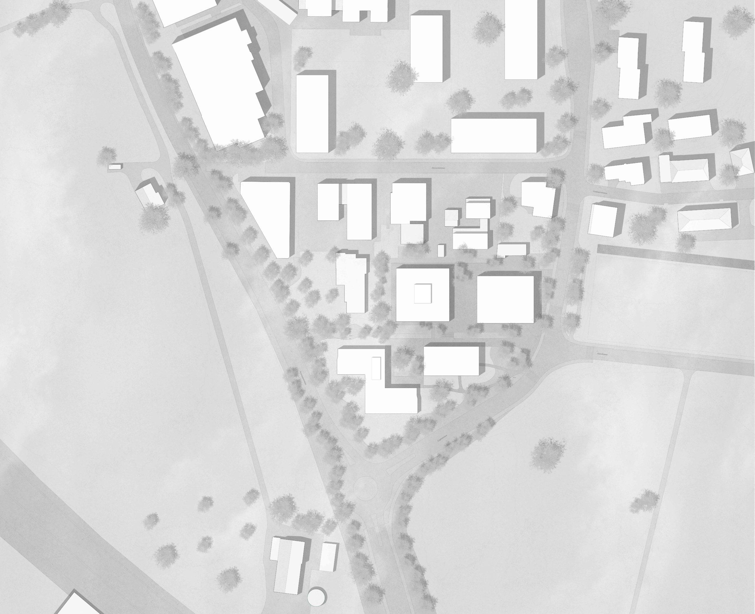 Durchgansstation Asyl Steinhausen Kanton Zug  Situationsplan